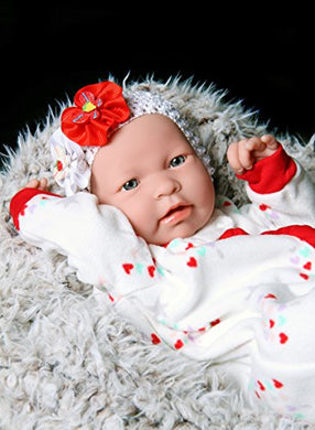 Baby Girl Reborn Anatomically Correct Washable Berenguer Realistic 17  Inches Real Soft Vinyl Lifelike Pacifier Doll With Accessories