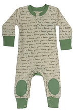 Load image into Gallery viewer, Cat &Amp; Dogma - Certified Organic Infant/Baby Clothes Ily/Sage Playsuit (6-12 Months)