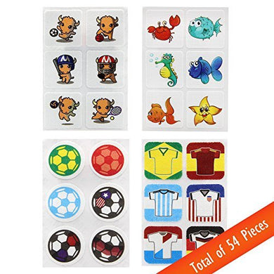 Meadow Natural Mosquito Repellent Stickers (Mixed Designs, 54 Pcs)