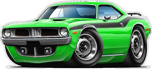 1972-1974 Cuda Wall Decal Vintage 3D Car Movable Stickers Vinyl Wall Stickers For Kids Room