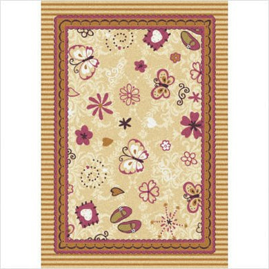 Joy Carpets Kid Essentials Infants & Toddlers Hearts And Flowers Rug, Multicolored, 3'10 X 5'4