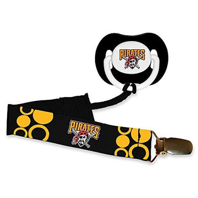 Baby Fanatic Pacifier With Clip, Pittsburg Pirates
