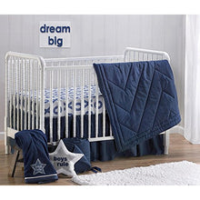 Load image into Gallery viewer, Cocalo Collection Boys Rule Applique Minky Blanket Blue/Grey