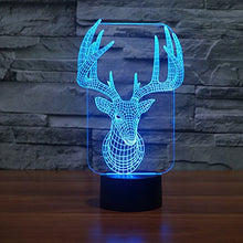 Load image into Gallery viewer, Apltch New Deer 3D Star Optical Illusion 7 Colors Change Touch Switch Led Table Lamp Children'S Night Light Household Bedroom Lighting Home Decoration
