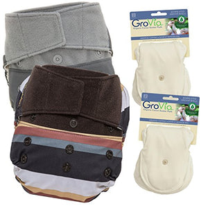 Grovia Experience Package: 2 Shells + 4 Organic Cotton Soaker Pads (Fennec + Cloud Hook & Loop)