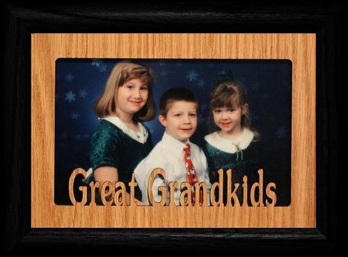 5X7 Great Grandkids Landscape Black Picture Frame ~ Holds A 4X6 Or A Cropped 5X7 Photo ~ Wonderful Gift For Great Grandma, Great Grandpa Or Great Grandparents!