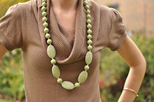 Load image into Gallery viewer, Bitey Beads Silicone Teething Nursing Necklace 32'' (Moss Green)