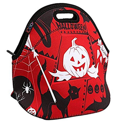 Pumpkin Icolor Neoprene Lunch Bag Halloween Insulated Lunchbox Thermal Lunch Tote Bagwater Resistant Lunch Box &Amp; Food Container Great For Travel, Work,Adult, Kids  Food Storage Cooler Ylb-169
