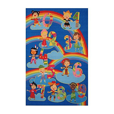Fun Rugs Home Decoration Kids & Numbers -19 X29