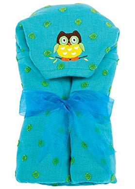 Am Pm Kids! Hooded Towel, Owl, 0-2T