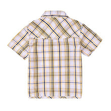 Load image into Gallery viewer, Momoland Baby Boys Plaid Button Down Shirt Yellow Short Sleeves (6-12M)