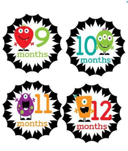 Monthly Stickers Baby Month Stickers Baby Girl Monthly Stickers Baby Boy Monthly Stickers Veggie Monsters Monthly Stickers Primary Colors Neutral Monthly Stickers