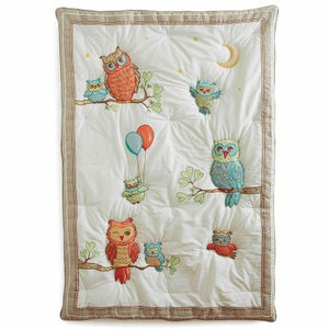 Little Acorn F13B00 Baby Owls Quilt