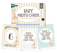 Load image into Gallery viewer, Milestone - Baby Photo Cards Sophie La Girafe - Set Of 24 Photo Cards To Capture Your Baby'S First Year In Weeks, Months, And Memorable Moments