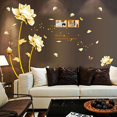 Wall Sticker, Hatop Gold Tulip Flower Wall Stickers Removable Decal Home Decor Diy Art Decoration