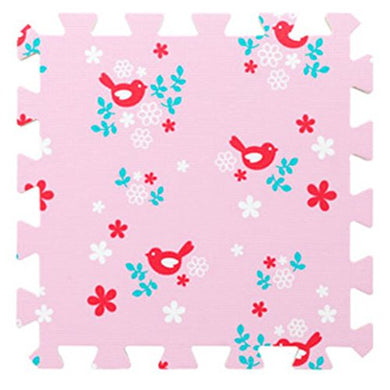 9 Pieces Of Crawling/Puzzle Foam Mats Kids&Amp;Baby Foam Play Mats-Pink