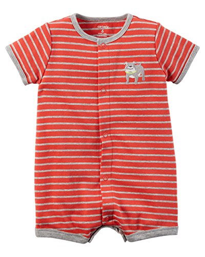 Carters Boys Nb-24 Months Bulldog Romper (Newborn) By Carter'S