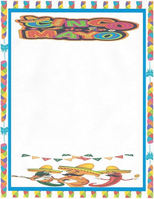 Cinco De Mayo Stationery Printer Paper 26 Sheets