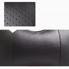 Load image into Gallery viewer, Ikevan 1 Pc Car Neck Pillow Children Adult Car Seat Breathable Headrest Auto Head Neck Rest Cushion Leather Polyester Headrest Pad Bone Pillow 10.6  X 7.1  (Black)