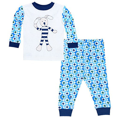 Under The Nile Baby Long Johns 12M Prism Print Navy, 1 Each