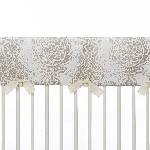 Sweet Potato Soho Convertible Crib Rail Protector, Vintage Print, Long