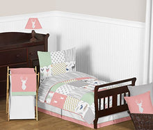 Load image into Gallery viewer, Window Treatment Valance For Coral, Mint And Grey Woodsy Girls Bedding Collection