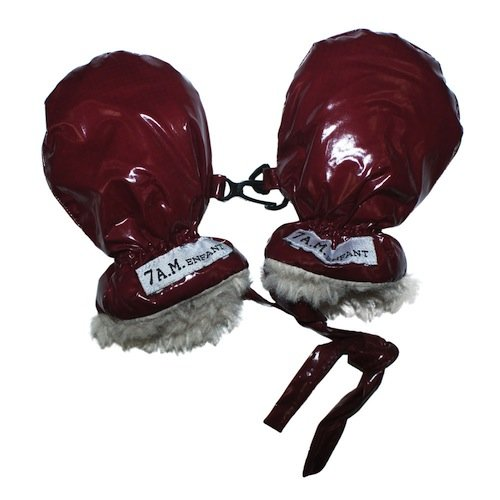7Am Enfant Polar Mittens, Bordeaux, Large
