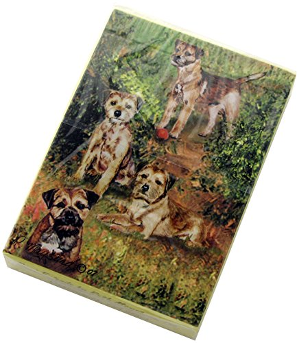 Best Friends Playing Cards, By Ruth Maystead - Border Terrier