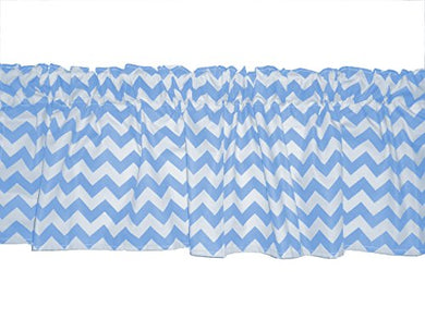 Baby Doll Bedding Chevron Window Valance, Blue