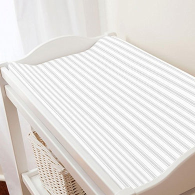 Carousel Designs French Gray Ticking Stripe Changing Pad Cover - Organic 100% Cotton Change Pad Cover - Made In The Usa