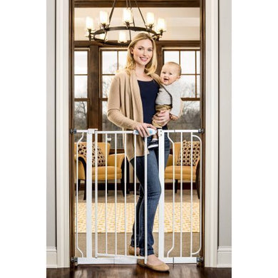 Regalo Extra Tall Walk Through Gate, Pressure Mount With Included Extension Kit
