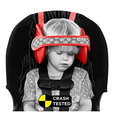 Napup Car Seat Head Support Toddler - A Comfortable Safe Sleep Solution (Red)