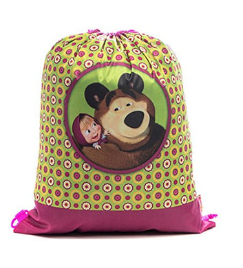 [Rustoyshop] Bag For Shoes Masha And The Bear Backpack Bag E Orso Kindergarten For Baby Preschool Bag Masha And The Bear, Baby Bag, Small Backpack Kids, Bag Girl Cute Kindergarten Little Girly