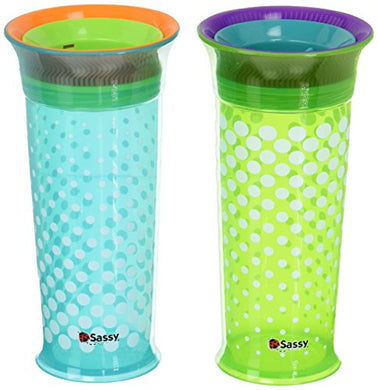 Sassy 360 Grow Up Cup Spout 12Oz Pediatric Dentist Recommended Spoutless Sippy Cup