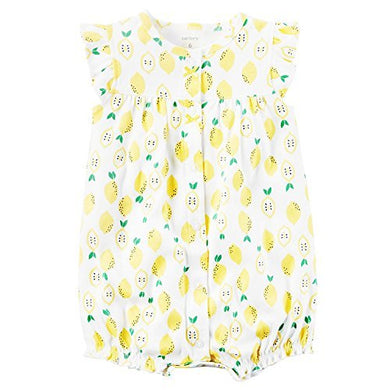 Carter'S Baby Girls' Lemon Printed Snap Up Romper 6 Months
