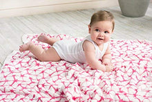 Load image into Gallery viewer, Aden + Anais Silky Soft Dream Blanket; 100% Cotton Bamboo Muslin; 4 Layer Lightweight And Breathable; 47 X 47 Inch; Berry Shibori - Pink