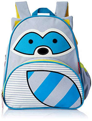 Skip Hop Toddler Backpack, 12  Raccoon School Bag, Multi.