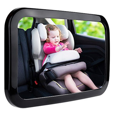 Zacro Baby Car Mirror, Shatter-Proof Acrylic Baby Mirror For Car, Rearview Baby Mirror-Easily To Observe The Baby'S Every Move, Safety And 360 Degree Adjustability (Black)