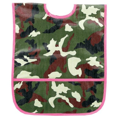 Am Pm Kids! Laminated Bib, Pink Camo, Small