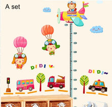 Load image into Gallery viewer, Wall Decor Removable Decal Sticker -Transportation, Happy Baby Height Measure Growth Chart