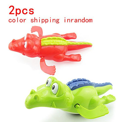 Cool Carton Water Animals Design Baby Pool Bath Toys,Wind Up Turtles&Amp;Crocodile Clockwork Play Swimming Alligator For Kid Educational Toys Infant Baby Gift(2Pcs)