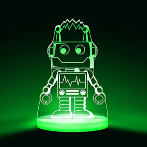 Robot Night Light, Led 12 Colors With Interactive Remote