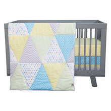 Load image into Gallery viewer, Trend Lab Triangles 3 Piece Crib Bedding Set
