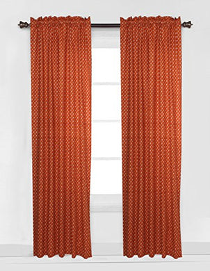 Bacati Arrows Curtain Panel, White/Orange