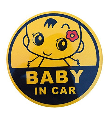 Baby In Car Baby On Board Graphic Safety Sticker Use Reflecting Material (Girl)