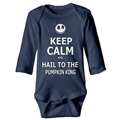 Navy Nightmare Before Christmas Funny Toddler Long Sleeve Trottie Jumpsuit Set