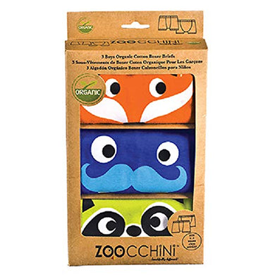 Zoocchini 100% Organic Cotton Boys Boxer Set  Crazy Critters, 3-Piece Set, 5-6 Years, For Kids And Toddlers 2-6 Years