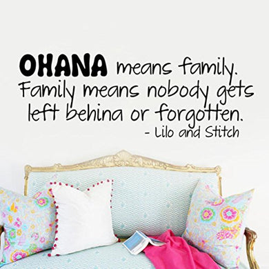 Hatop Ohana Wall Art Removable Home Vinyl Window Wall Stickers Decal Decor