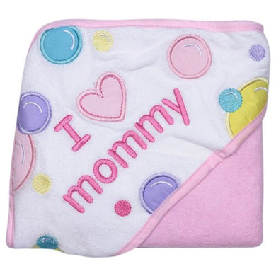Baby Vision Luvable Friends I Love Hooded Towel