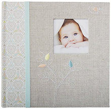 Load image into Gallery viewer, C.R. Gibson'S Gray Linen Baby Photo Album Baby Photobook, 9.3 X 9.1 X 1.8 Inches, 80 Pages